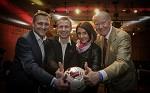 (c) 2016 - Sport, Fußball, Kärntner Fußballverband, Jahreshauptversammlung. - Bild zeigt: Johann Lintner, Klaus Mitterdorfer, Tanja Hausott und Erich Ropp.