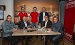 (c) 2019 - Kleine Zeitung, Eiskalt, Talkrunde - Bild zeigt: Rene Swette, Christian Feichtinger, Manuel Geier, Marco Richter, Gerald Rauchenwald, Martin Quendler und Joschi Peharz.